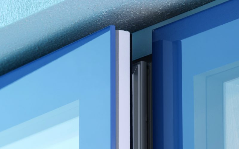 Slate Blue window close up