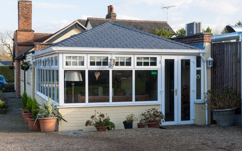 Tile roof Conservatory in Derbyshire