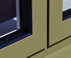 aluminium coloured window