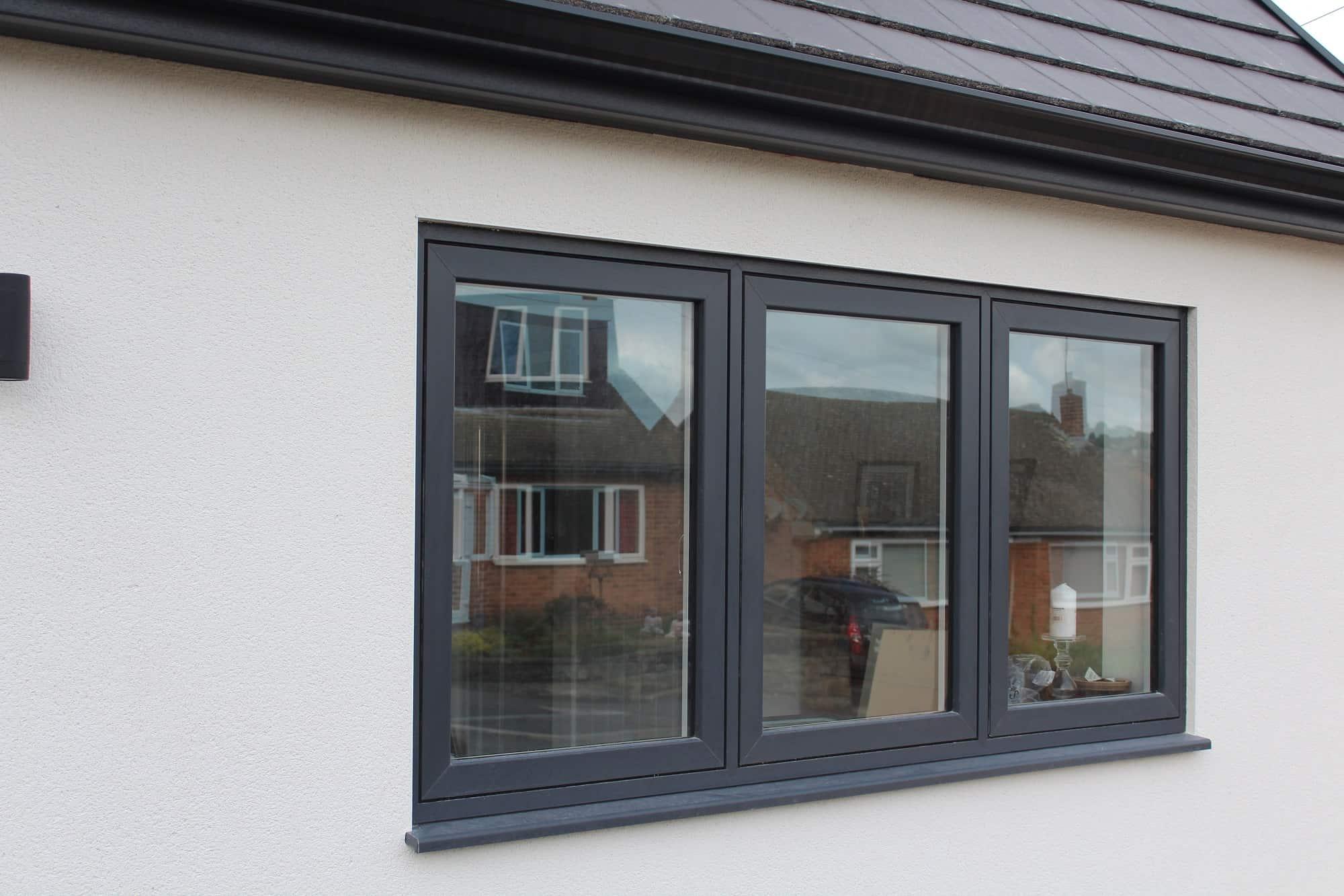 Flush sash PVCu windows Derby