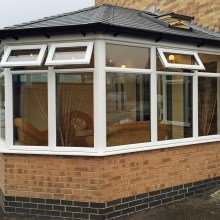 Tiled Roof Conservatory Refurbishment from Trade Windows social