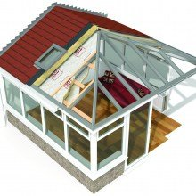 Insulated tile roof conservatory from Trade Windows