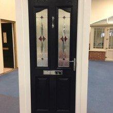 Black composite door derby