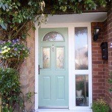 Chartwell Green Composite Door & side panel