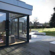 Fully Glazed Door + large sidelight insitu