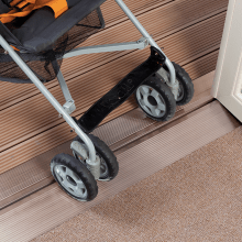 Bifold Door Flush threshold for wheelchair access and pushchair access