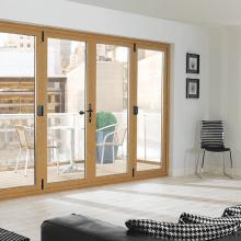 Eurocell Aspect PVCu Bi-fold Doors in Irish Oak