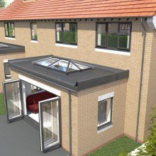 Extension with Roof Lanterns from Trade Windows